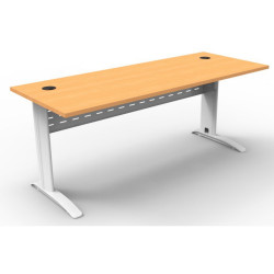 RAPID SPAN DESK W1800xD700xH730mm Beech Top White Legs