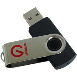 Shintaro 16GB Rotating Pocket USB 2.0 Black