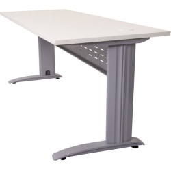 RAPID SPAN OPEN WORKSTATION 1500W x 700D x 730mmH NW with Brushed Silver Frame