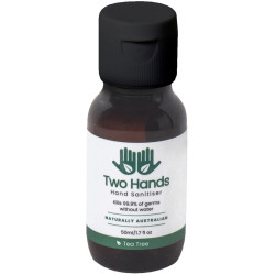 Two Hands Hand Sanitiser 50ml Gel 60% Alcohol