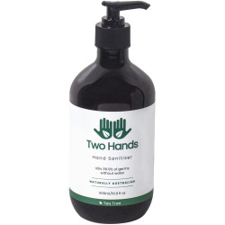 Two Hands Hand Sanitiser 500ml Gel Pump 60% Alcohol