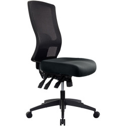 Buro Tidal Office Chair High Mesh Back No Arms Seat Slide Black Fabric Seat and Back