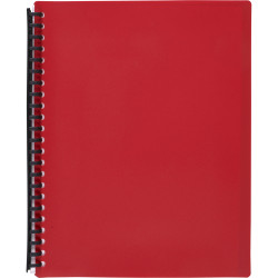 MARBIG REFILLABLE DISPLAY BOOK A4 40 Pocket Red