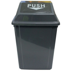 CLEANLINK RUBBISH BIN With Bullet Lid 60L Grey