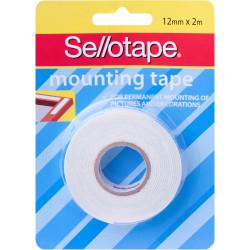 Sellotape Permanent Mounting Tape 12mmx2m White