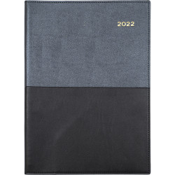 COLLINS VANESSA SERIES DIARY A4 2 Days to a Page Black