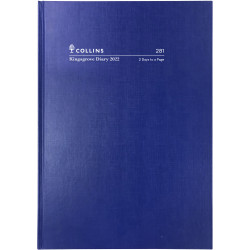 COLLINS KINGSGROVE DIARY A5 2 Days To Page 1Hr Blue