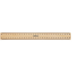 POLISHED METAL EDGE RULER 30cm Ruler