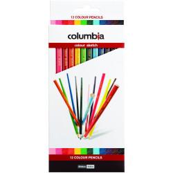 COLUMBIA COLORSKETCH PENCILS Full Length Assorted Pk12