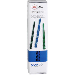 GBC PLASTIC BINDING COMB 10mm 21 Ring 65 Sheets Capacity Blue Pack of 100