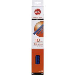 GBC PLASTIC BINDING COMB 10mm 21 Ring 65 Sheets Capacity Blue Pack of 25