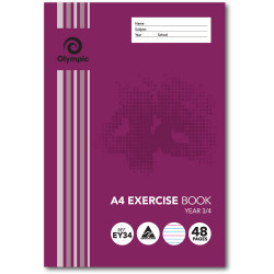 OLYMPIC EXERCISE BOOKS A4 48Pg Yr3 4 QLD Ruling