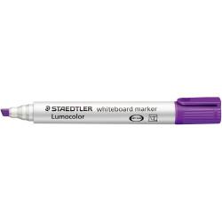 STAEDTLER LUMOCOLOR CHISEL TIP Whiteboard Marker Violet Pack of 10