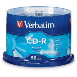 VERBATIM RECORDABLE CD'S CD-R 80Min 52X 50Pk Spindle