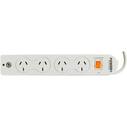 POWERPLUS POWERBOARD 4 OUTLET Master Switch,Surge & Overload