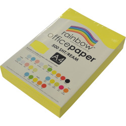 RAINBOW 80GSM OFFICE PAPER A4 Fluoro Yellow Ream 500