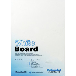CUMBERLAND WHITE/PASTE BOARD A3 200gsm - 3sheet Pack of 50