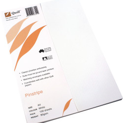 QUILL A4 PINSTRIPE PAPER 100gsm White Pack of 100
