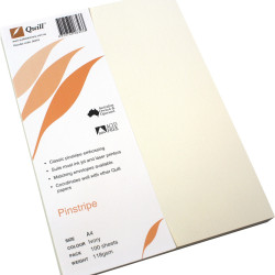 QUILL A4 PINSTRIPE PAPER 100gsm Ivory Pack of 100