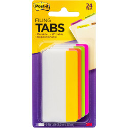 POST-IT DURABLE TABS 75mm X 38mm. 6 Tabs Each 686-PLOY3IN Pack of 6