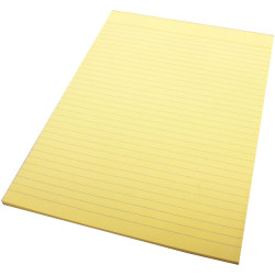 QUILL A4 70LF COLOUR BOND PADS Yellow