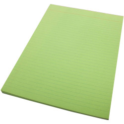 QUILL A4 70LF COLOUR BOND PADS Green