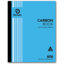 Olympic 606 Carbon Book Duplicate 250mmx200mm Record 100 Leaf