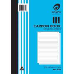 Olympic 602 Carbon Book Duplicate A4 Record 100 Leaf