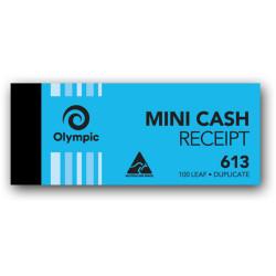 OLYMPIC CARBON RECEIPT BOOK Cash 613 Dup 100Leaf 50x125mm