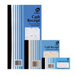 OLYMPIC CARBON RECEIPT BOOK Cash 616 Dup 250x135mm 4/View