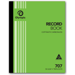 Olympic 707 Carbonless Book Triplicate 250x200mm Record 50 Leaf