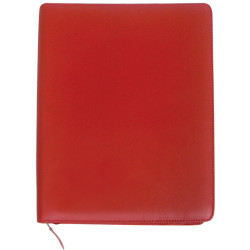COLLINS A4 EXECUTIVE PORTFOLIO PU Zippered Red
