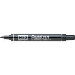 PENTEL N50 PERMANENT MARKERS Bullet Black