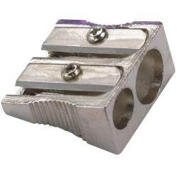 PENCIL SHARPENER 2 Hole Metal Silver