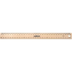 CELCO WOODEN RULER 30cm. Polished