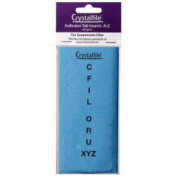 CRYSTALFILE TAB INSERTS A-Z Blue Pack of 60