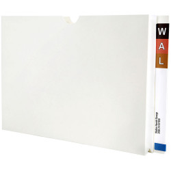 Avery Lateral Pocket Wallet Foolscap Top Opening White Box of 20