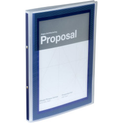 FLEXI VIEW PRESENTATION BINDER A4 2 Ring 100Shts Navy