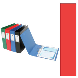MARBIG ENVIRO DELUXE BINDERS Wide Cap A4 4D Ring 38mm Red