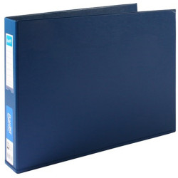 BANTEX PVC BINDERS A3 3D Ring 38mm Landscape Blue