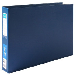 BANTEX PVC BINDERS A3 4D Ring 38mm Landscape Blue