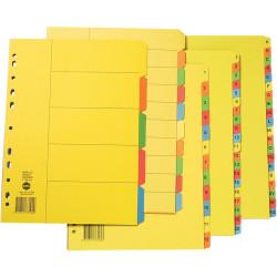 Marbig Manilla Divider A4 10 Extra Wide Tab Bright Colours
