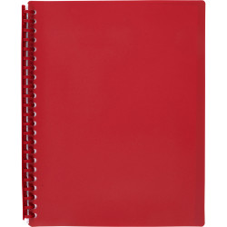 DISPLAY BOOK REFILLABLE A4 20 Pocket Red