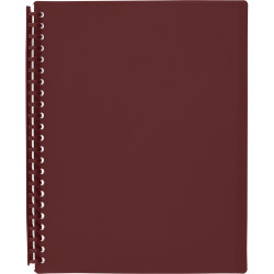 DISPLAY BOOK REFILLABLE  A4 20 Pocket Maroon