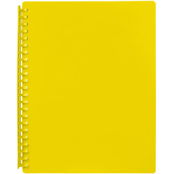 DISPLAY BOOK  REFILLABLE A4 20 Pocket Yellow