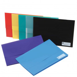 Marbig Polypick Document Wallet Foolscap 25mm Gusset Teal