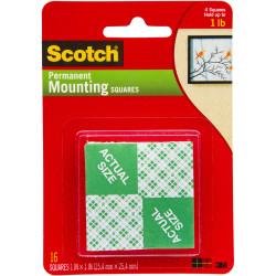 SCOTCH 111 MOUNTING SQUARES Foam 25.4x25.4mm