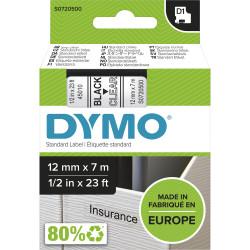 DYMO D1 LABEL CASSETTE 12mmx7m -Black on Clear