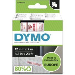 DYMO D1 LABEL CASSETTE 12mmx7m -Red on White