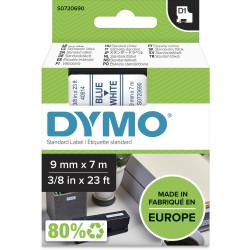 DYMO D1 LABEL CASSETTE 9mmx7m -Blue on White